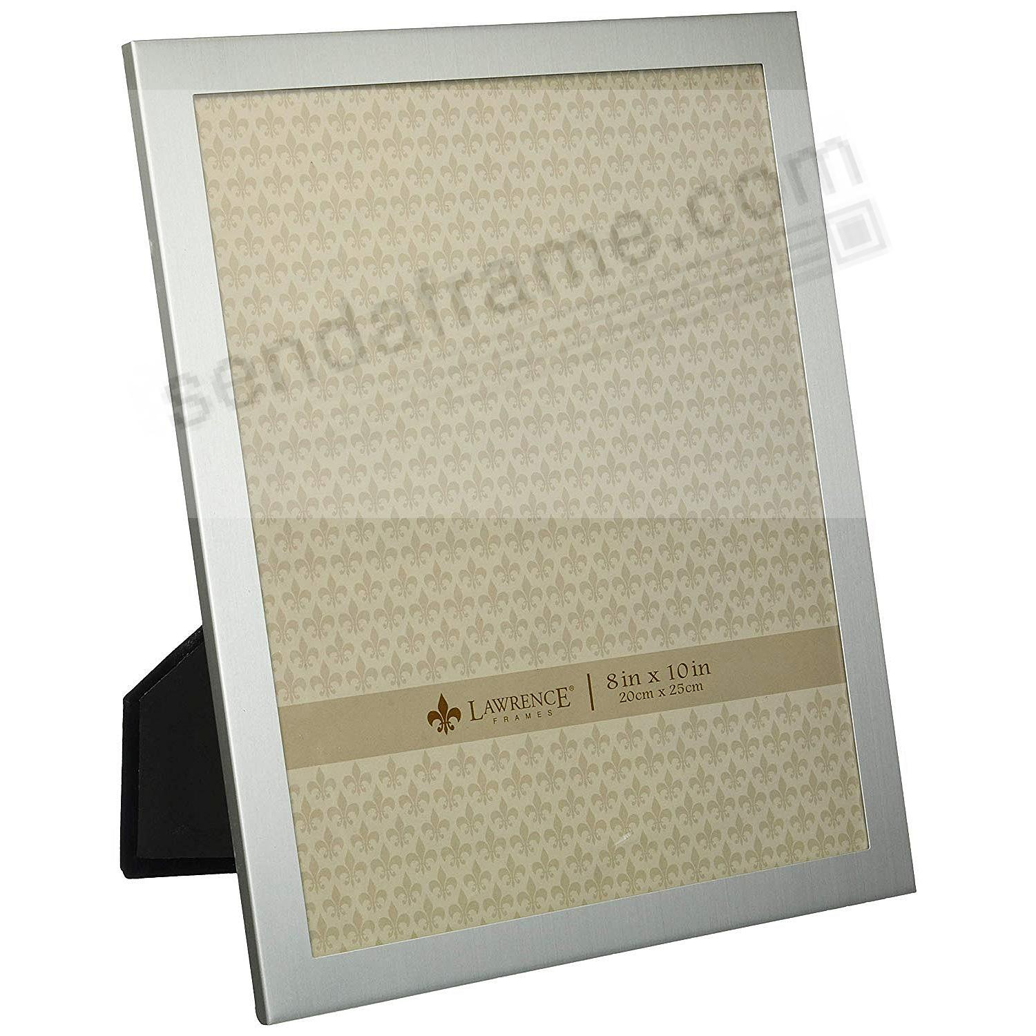 Brushed Silverplate 8x10 frame by Lawrence®