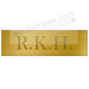 Engravable brass 2 x 5/8 permanent-stick name plate