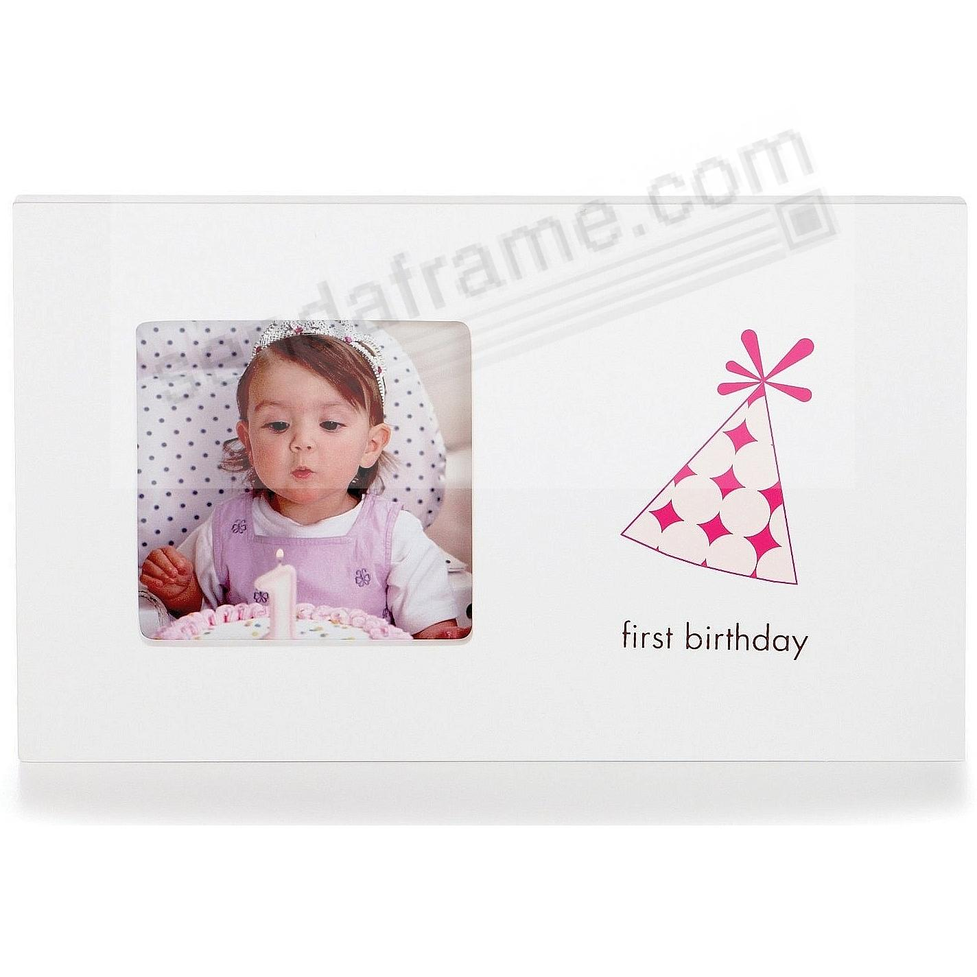 Babyprints® FIRST BIRTHDAY girl frame