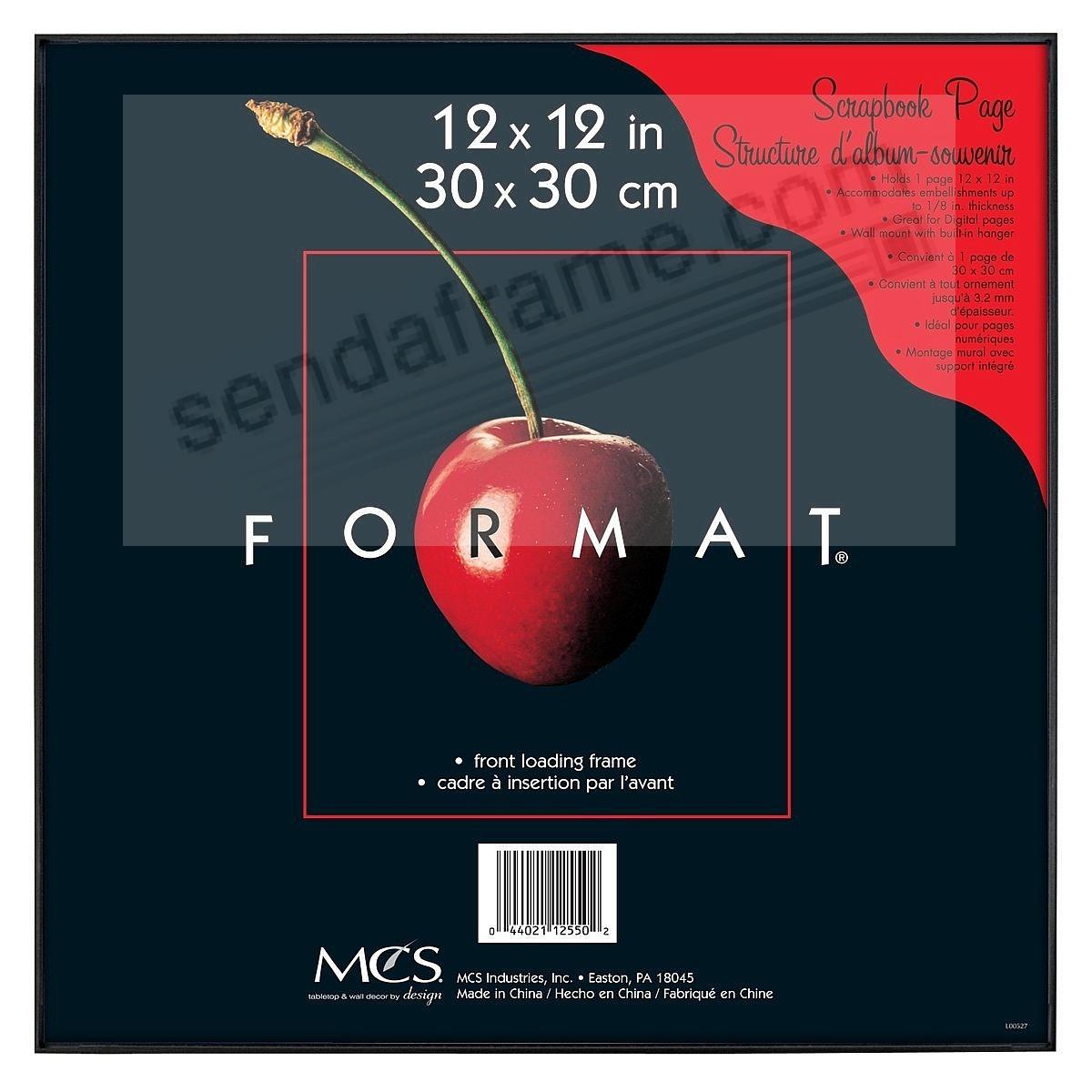 The ORIGINAL FORMAT FRONT-LOAD Black 12x12 Frame