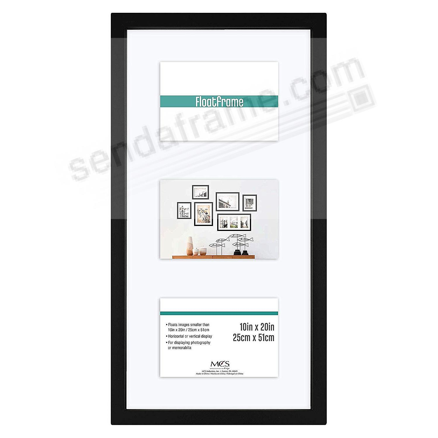 The original FLOAT <u>and</u> DOUBLE-SIDED 4x6/5x7/8x20 Black Versatile wall frame