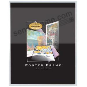 Clear plastic POSTER size frame with Corrugated Backing