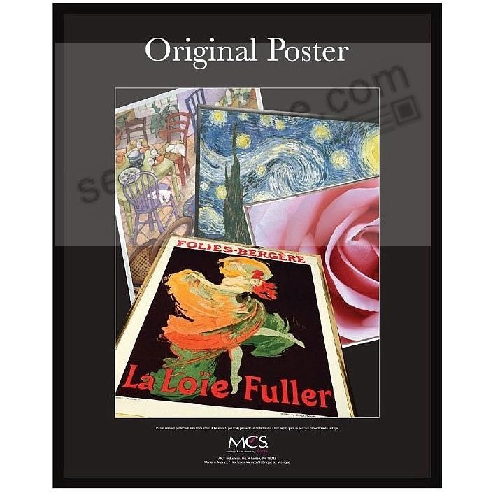 Black plastic POSTER size 22x28 frame with Corrugated Backing
