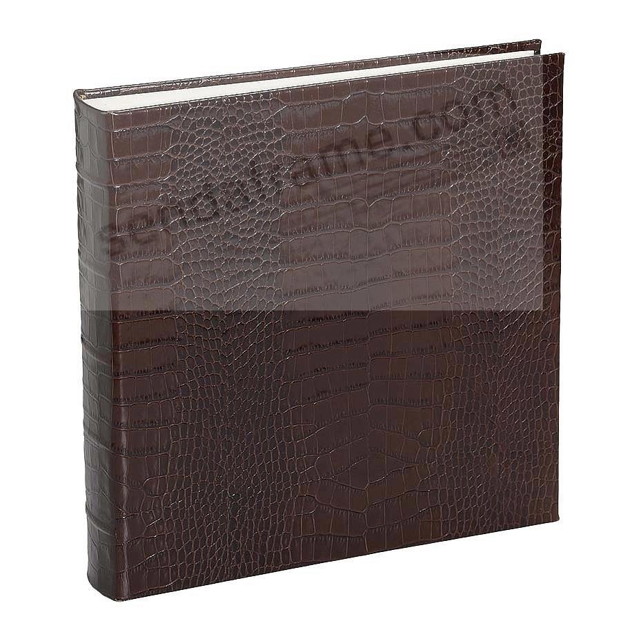Large 13x13 Crocodile-pattern Brown Leather Bound Album by Graphic Image™
