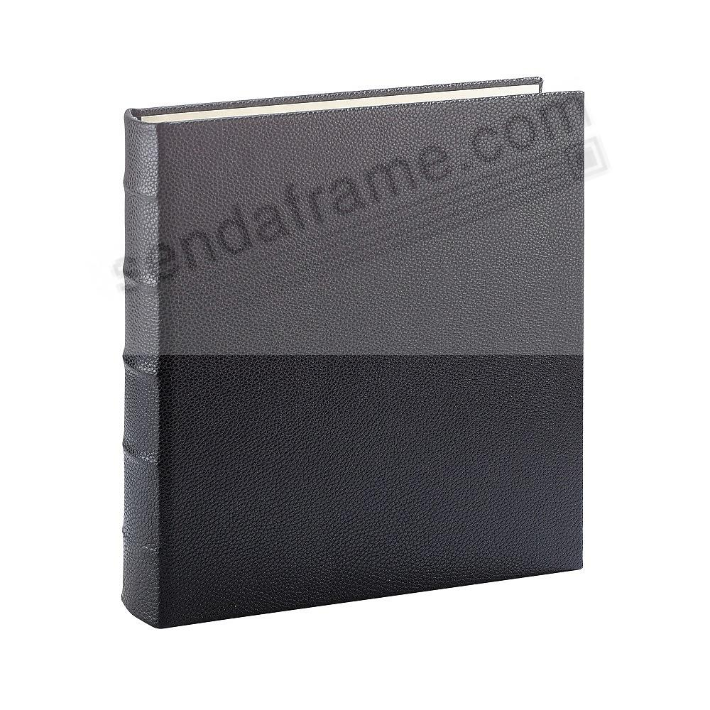 BLACK 3-ring Traditional fine-leather Clear Pocket Album<br>by Graphic Image™