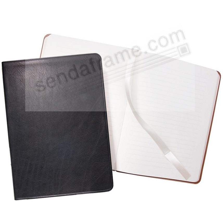 Luxe Soft Cover Black Leather 9inch Large Journal by Graphic Image™