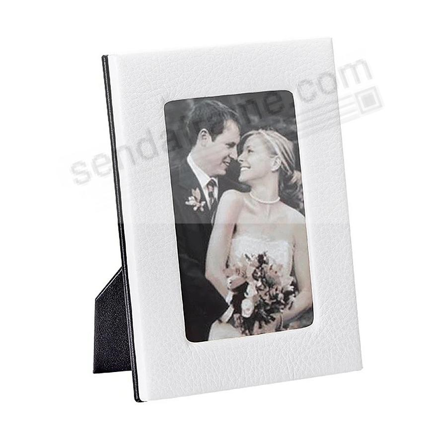 Traditional WEDDING WHITE Leather STUDIO Frame by Graphic Image™