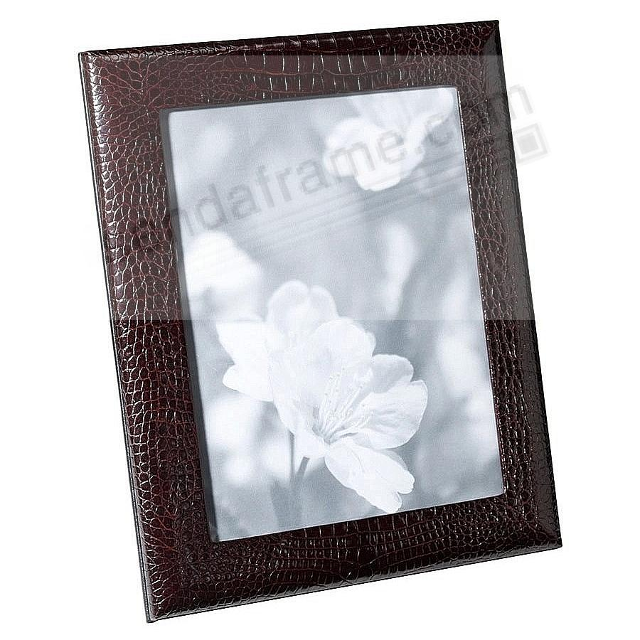 Brown Croco-embossed fine calfskin leather STUDIO PROFILE 4x6 Frame<br>by Graphic Image™