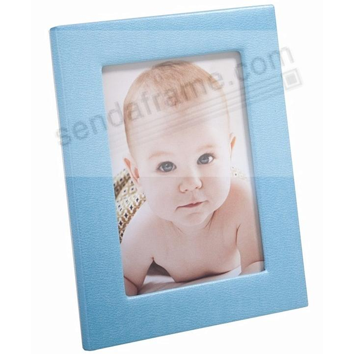 Traditional Baby Blue Leather STUDIO Frame<br>by Graphic Image™