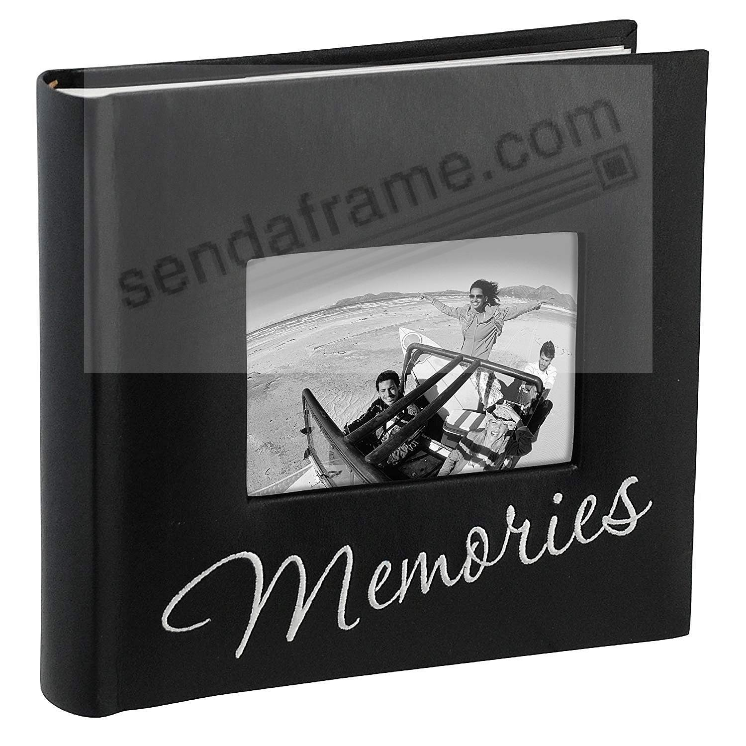Embroidered MEMORIES album by Malden® holds 160 photos