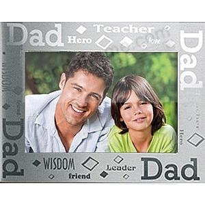 Celebrate Dad in brushed aluminum by Prinz®