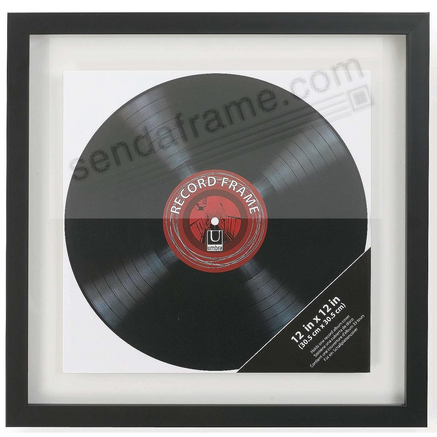 The Umbra 174 Record Black Frame Double Sided Float