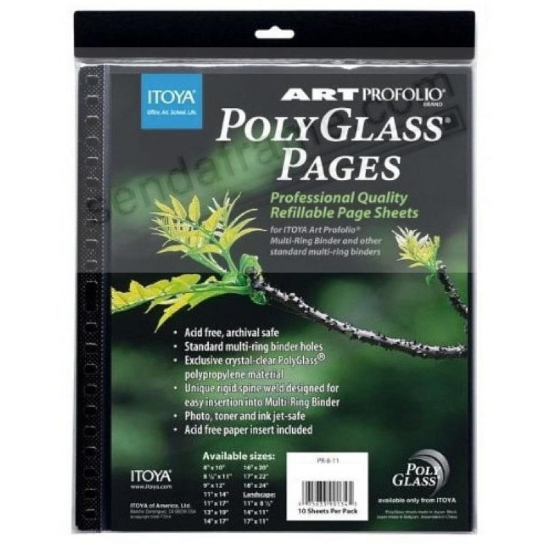 Itoya® PolyGlass® refills for STANDARD 3-RING binder albums 8½x11 (sold in 2s)