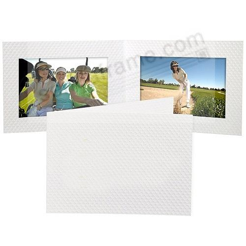 Golf-Ball Dimpled White Cardboard Double Folder for 6x4 prints