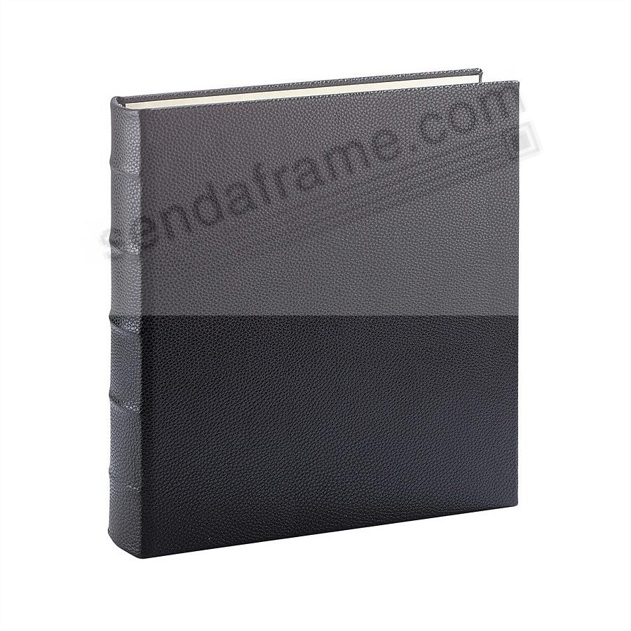 Standard 3-ring Traditional Black Fine European Leather binder (unfilled) by Graphic Image™