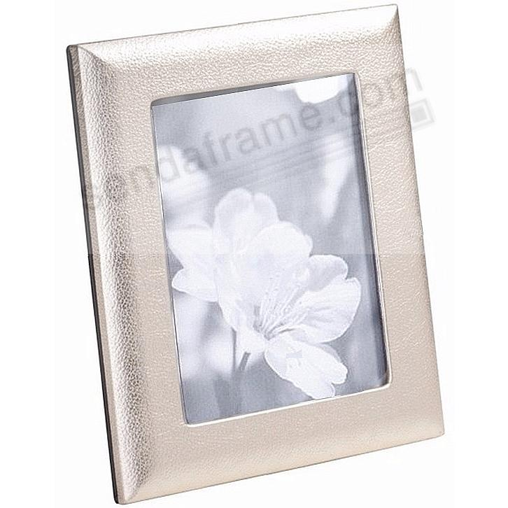 Metallic White Gold Leather STUDIO Frame<br>by Graphic Image™