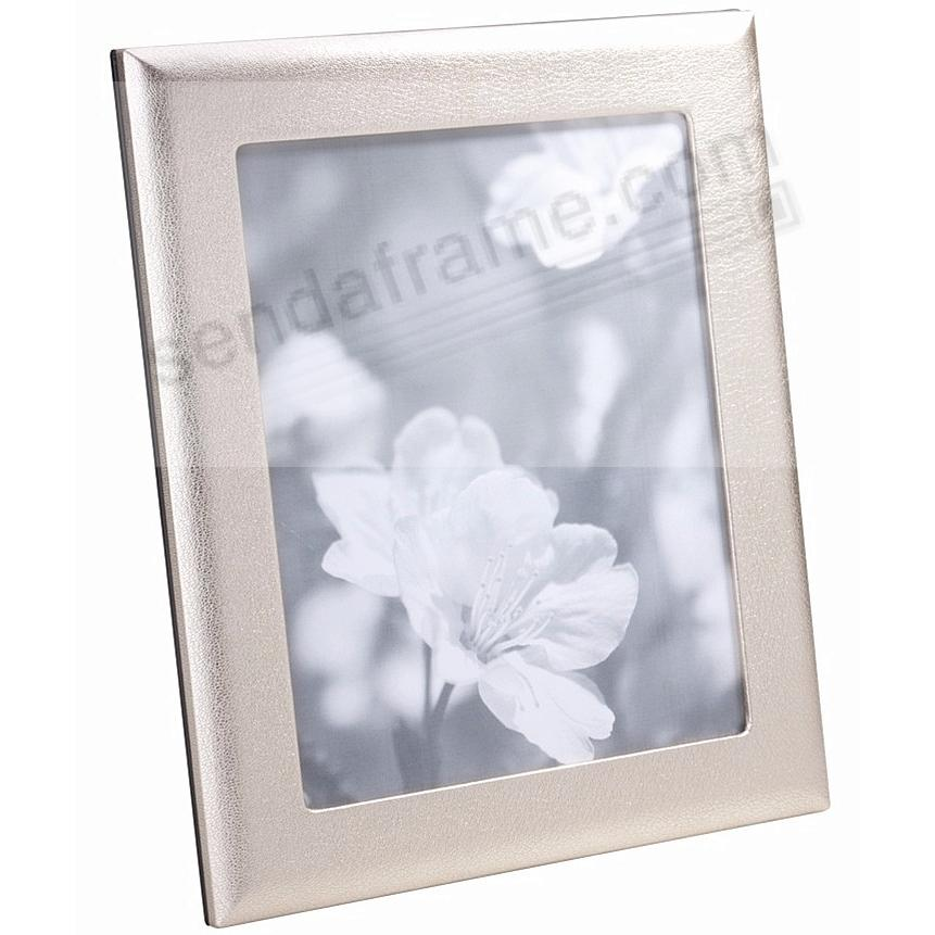 Metallic White Gold Leather STUDIO 8x10 Frame<br>by Graphic Image™