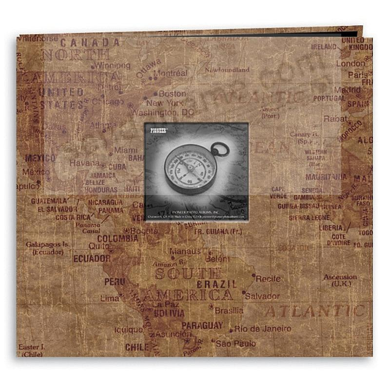 WORLD MAP 12x12 Scrapbook album by Pioneer®