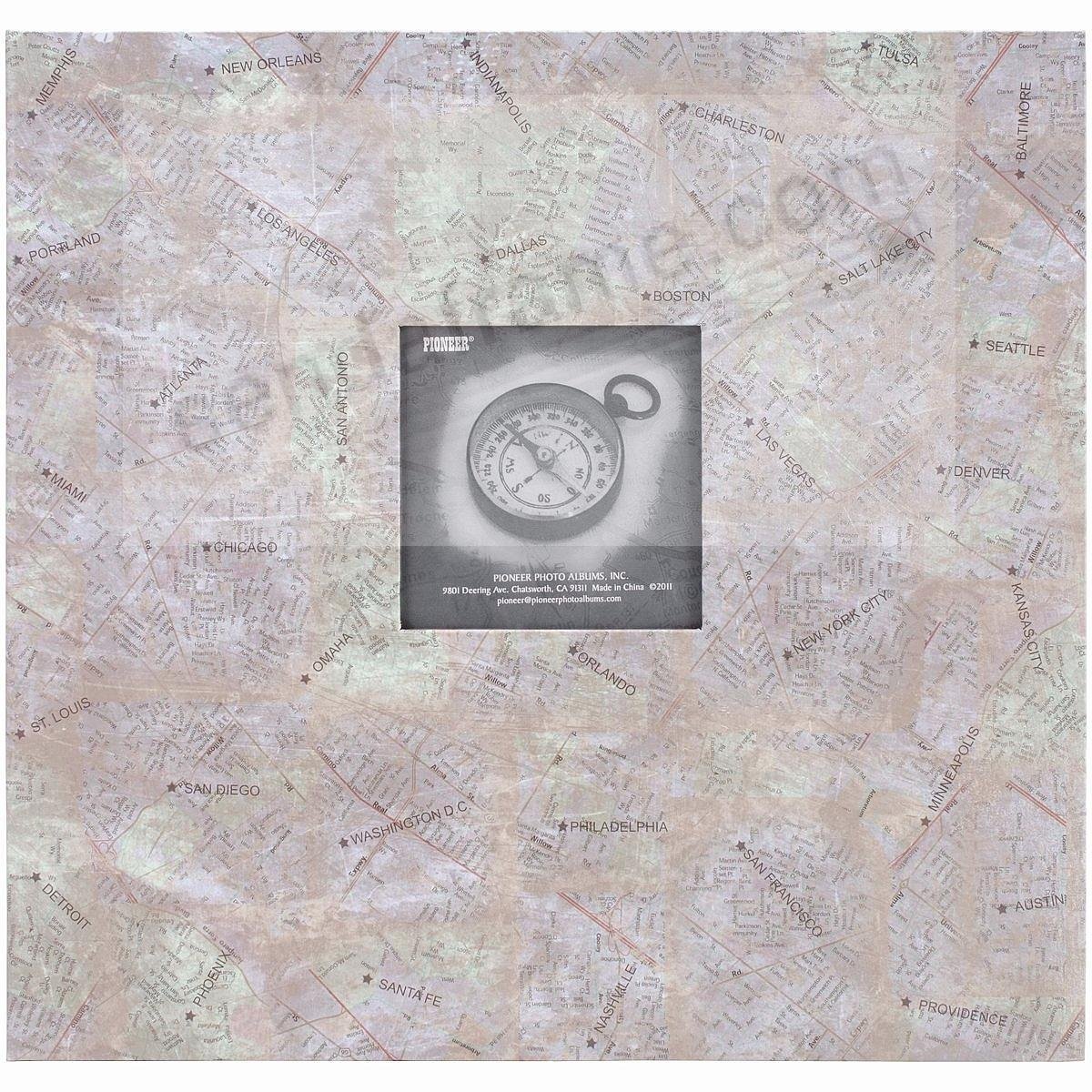 CITY MAPS 12x12 Scrapbook album by Pioneer®