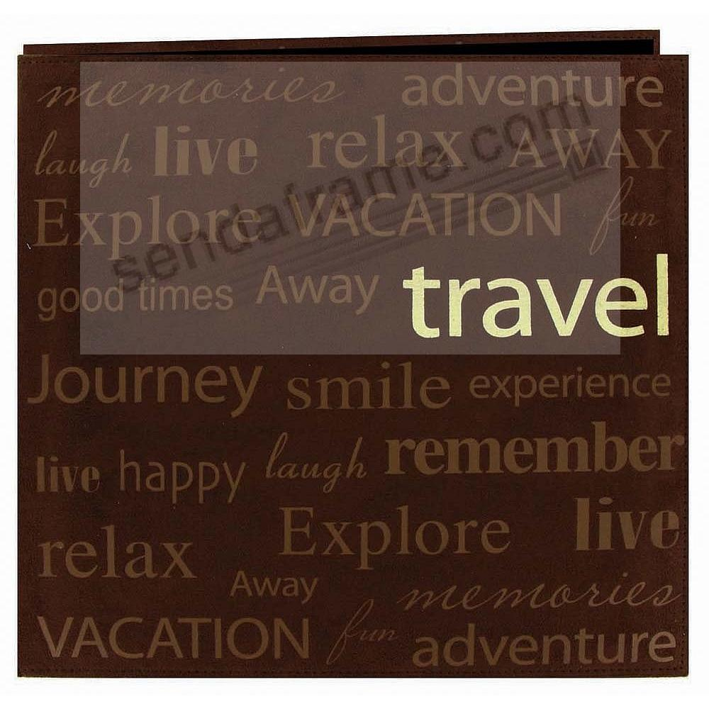 Brown TRAVEL MEMORIES 12x12 Scrapbook Album by PIONEER®