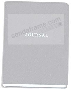 Saffiano-Silver eco-leather 7'' Medium Travel Journal by Graphic Image™