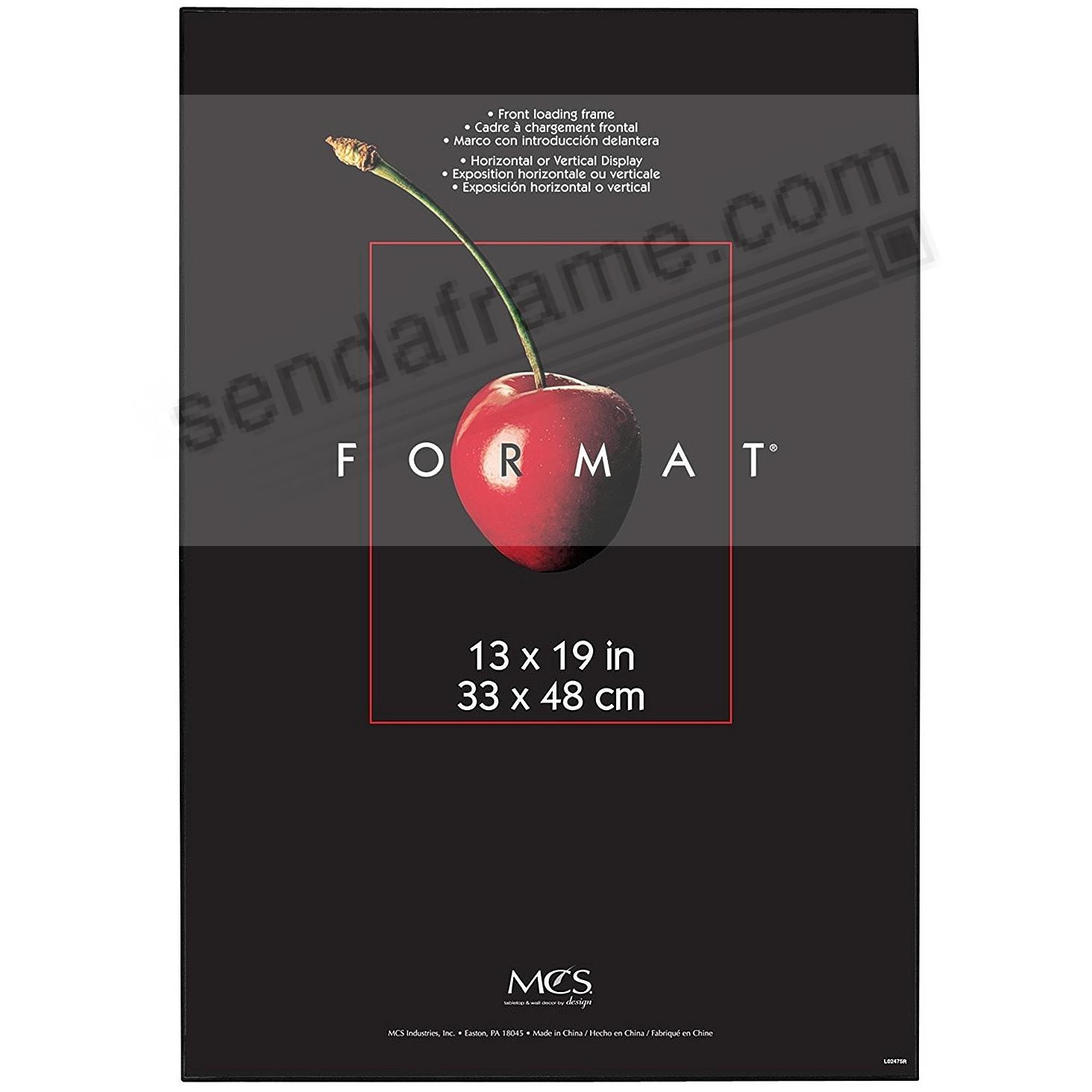 The ORIGINAL FORMAT FRONT-LOAD Black 13x19 frame by MCS®