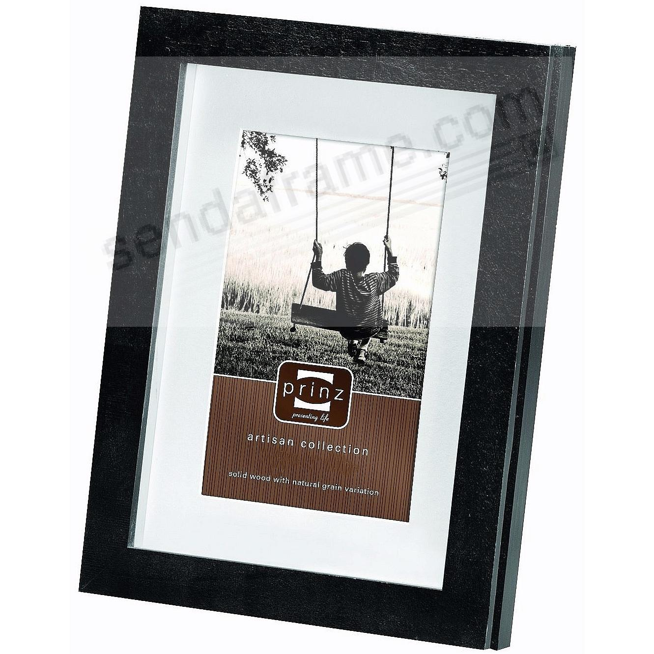 Matted HARPER black stained wood frame from Prinz®