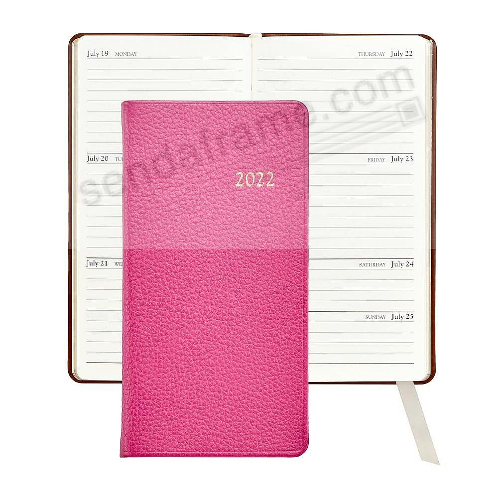 2020 BRIGHTS-PINK 6in Pocket Datebook Diary Fine Leather by Graphic Image™