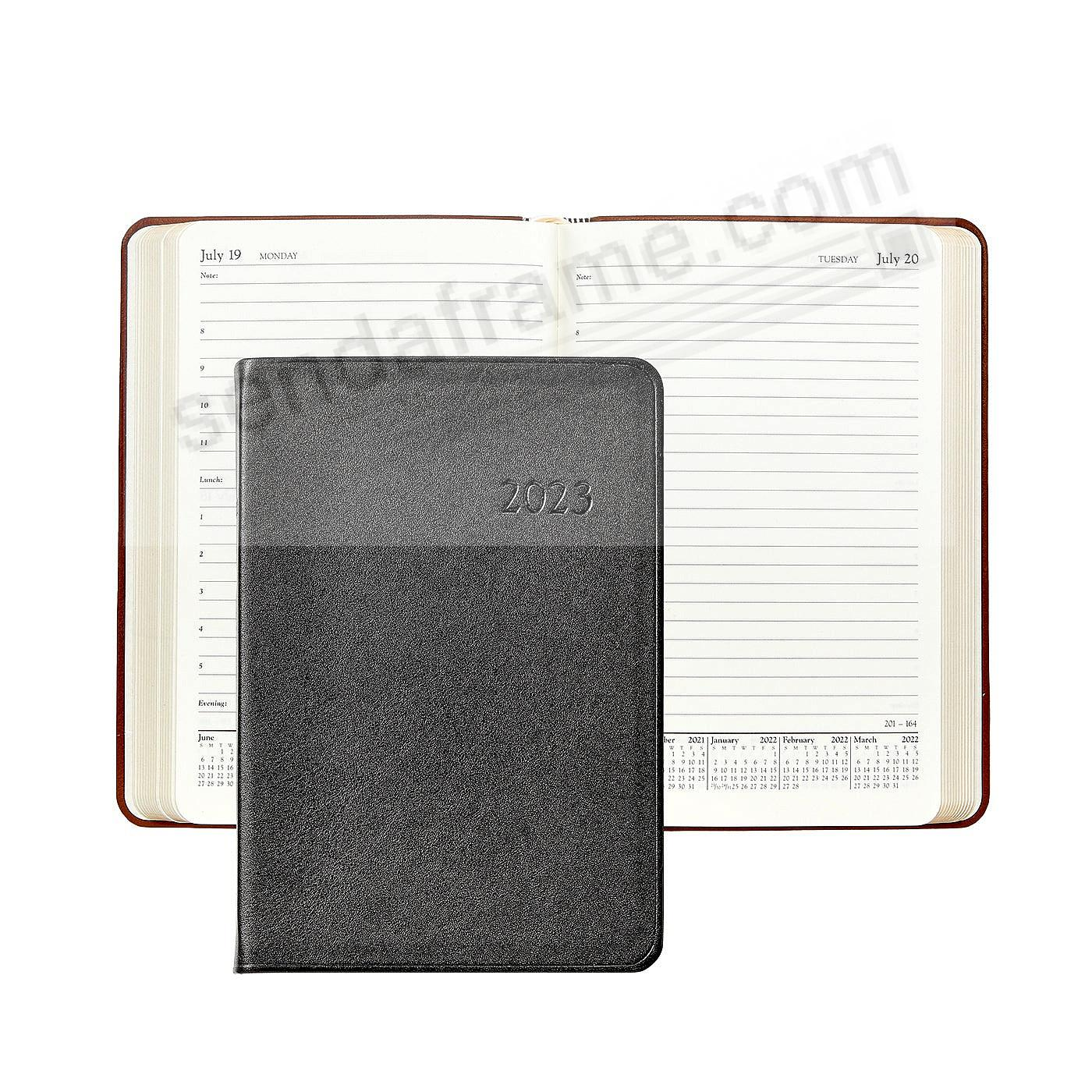 2020 TRADITIONAL-BLACK Fine Leather 8-inch Daily Journal by Graphic Image™