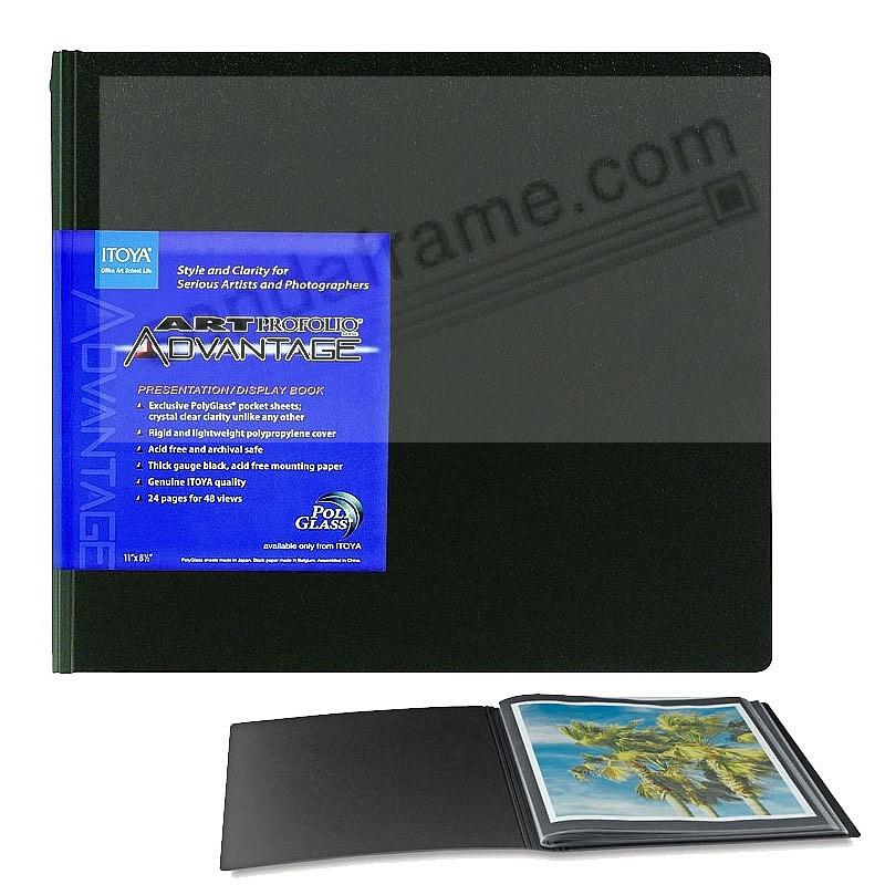 Art Profolio ADVANTAGE 11x8½ landscape with 24 pages/48 views art & photo album by Itoya®