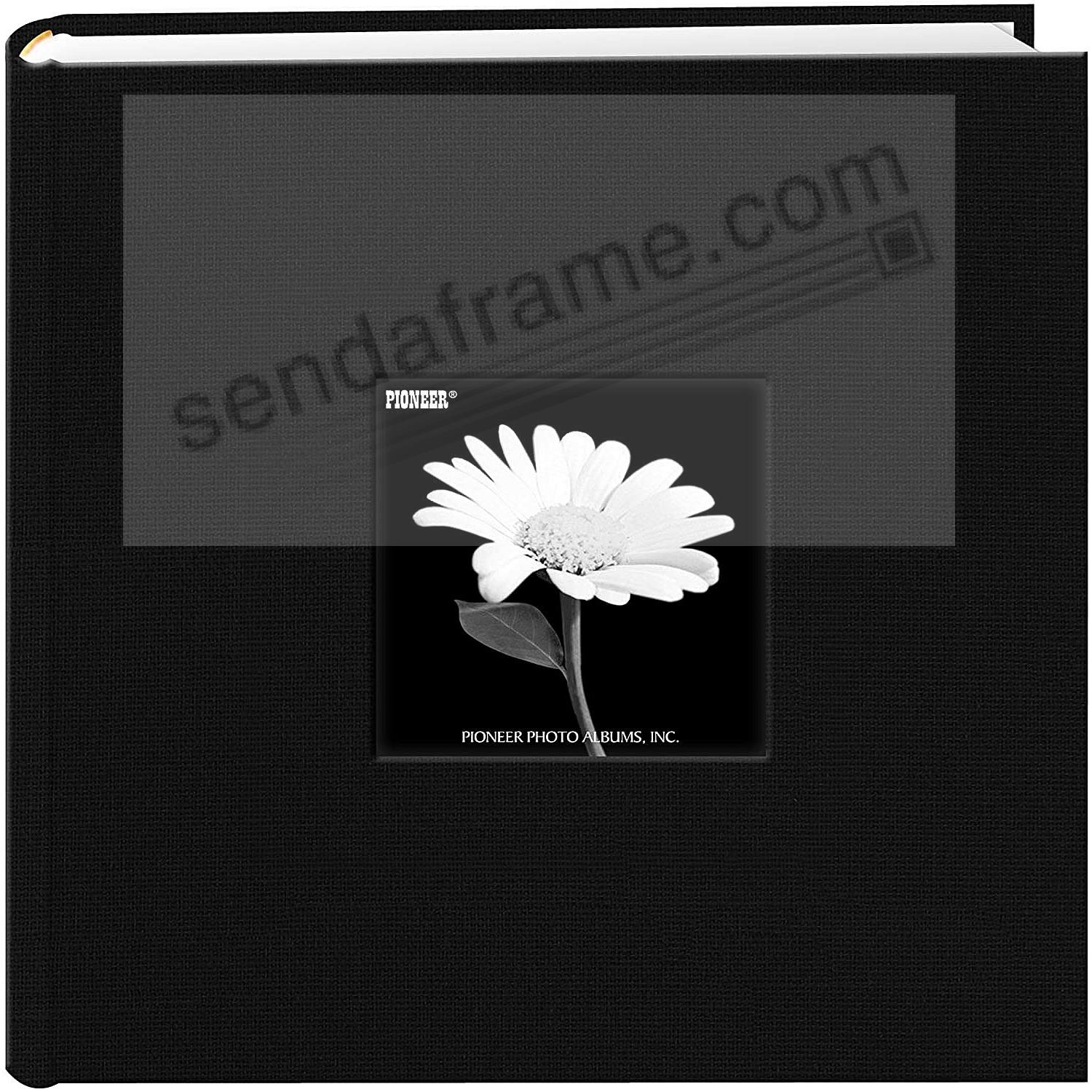 Deep-Black cloth 2-up 4x6 frame photo album by Pioneer®