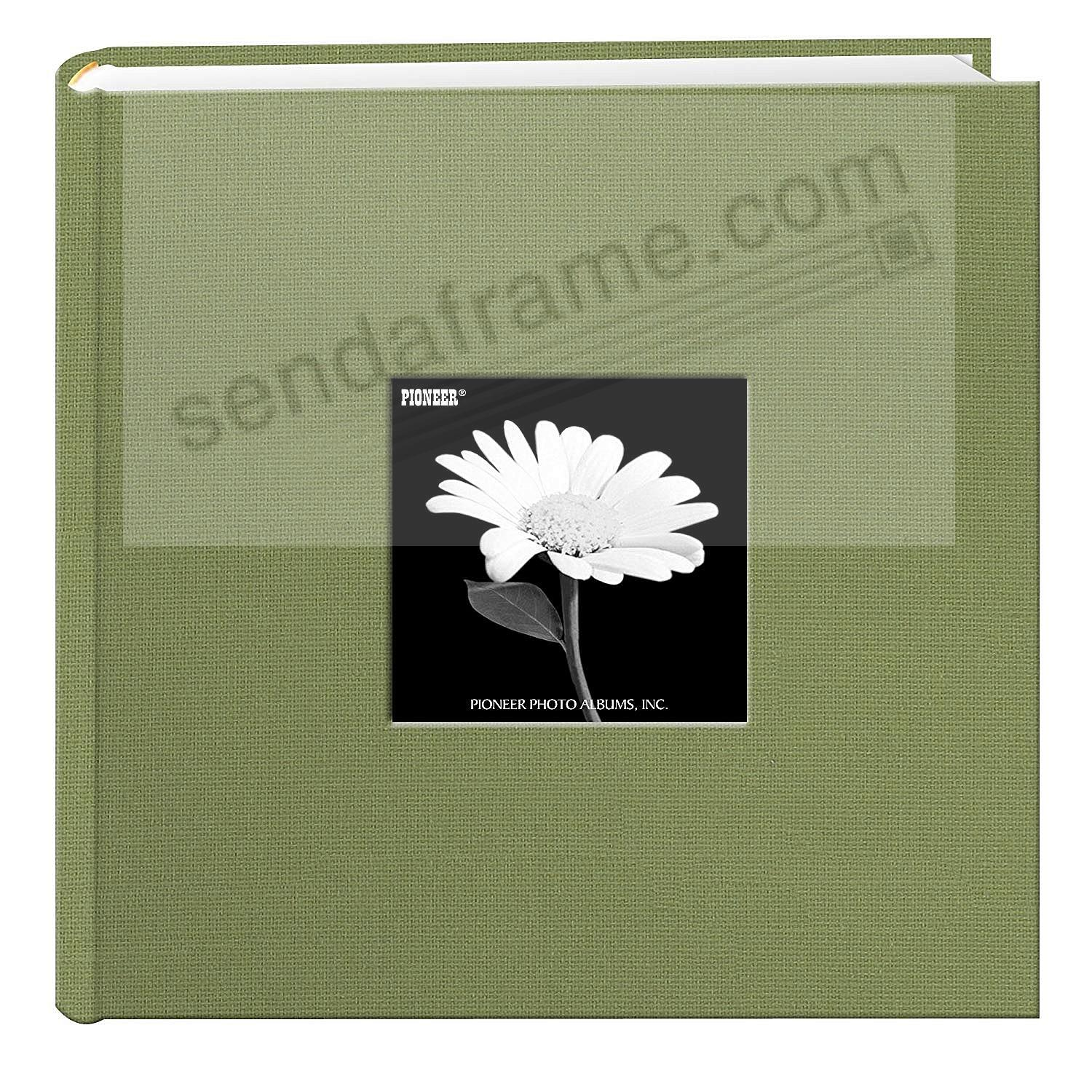 Sage-Green cloth 2-up frame photo album by Pioneer®