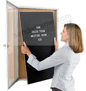 Indoor MESSAGE CENTER - Industrial quality aluminum frame with 3-in-1 Combo Boards