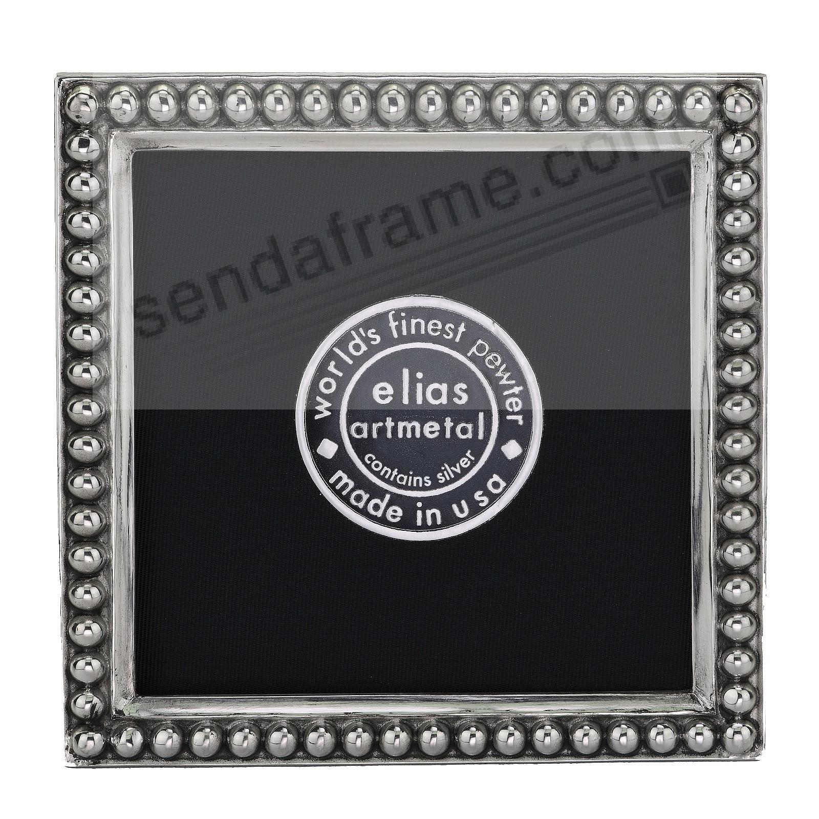JUST BEADS Fine Pewter 3x3 frame<br>by Elias Artmetal®
