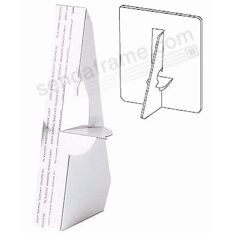 Single Wing Self-Stick 3inch Easel-Backs - White (set of 5)