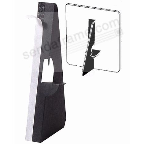 Single Wing Self-Stick 5inch Easels - Black (5 per pkg)