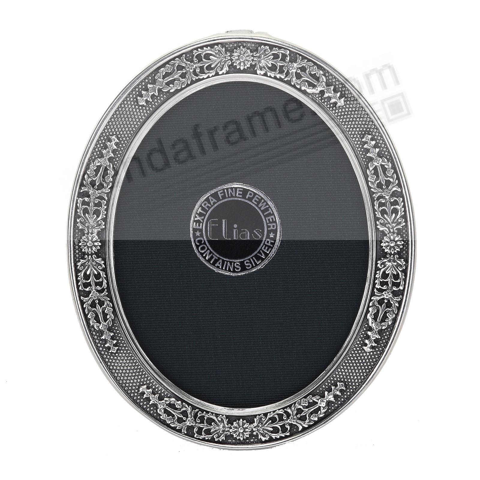FRENCH STIPLED OVAL Fine Pewter<br>by Elias Artmetal®