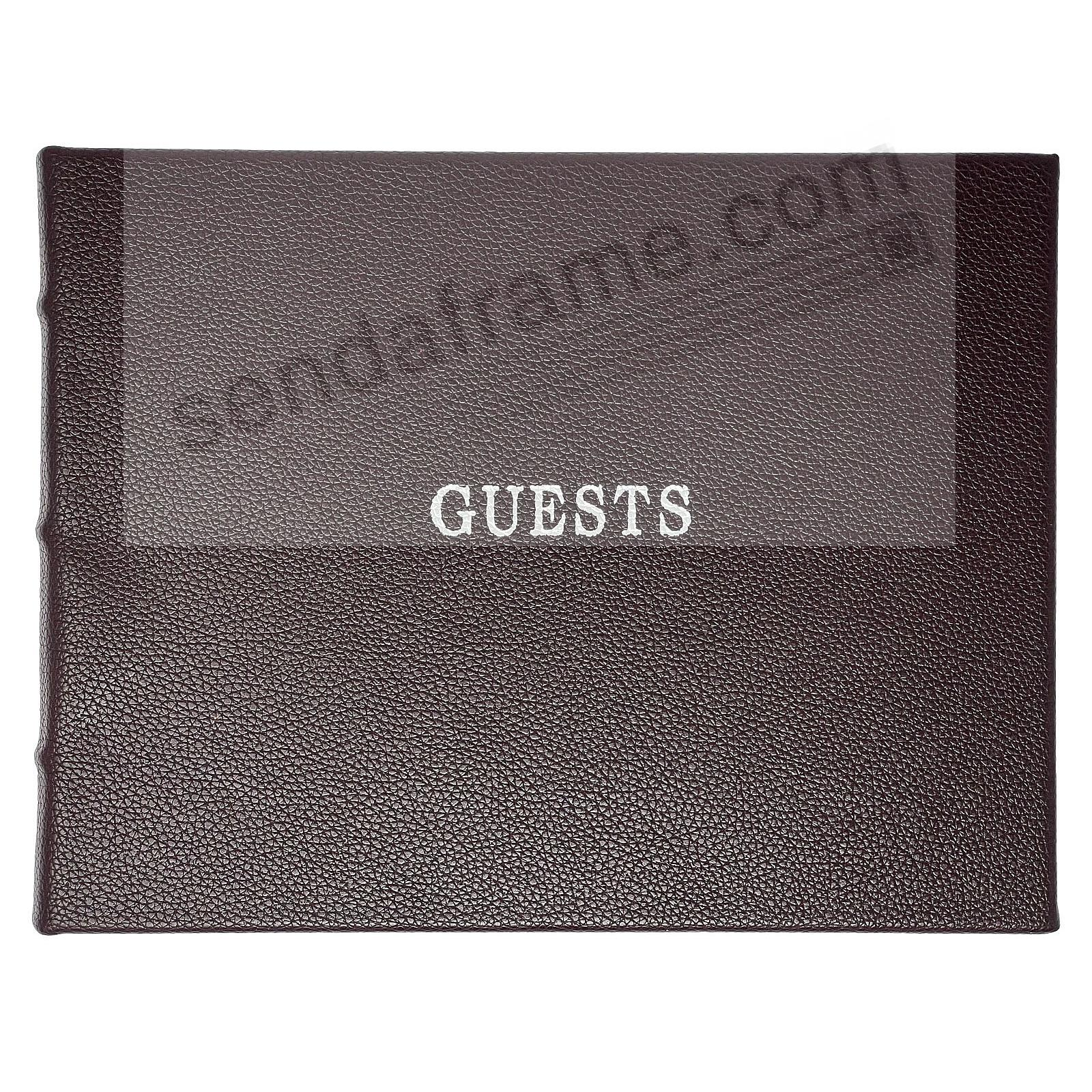 Rustico-Brown eco-leather Guest Book for a lasting record by Graphic Image®