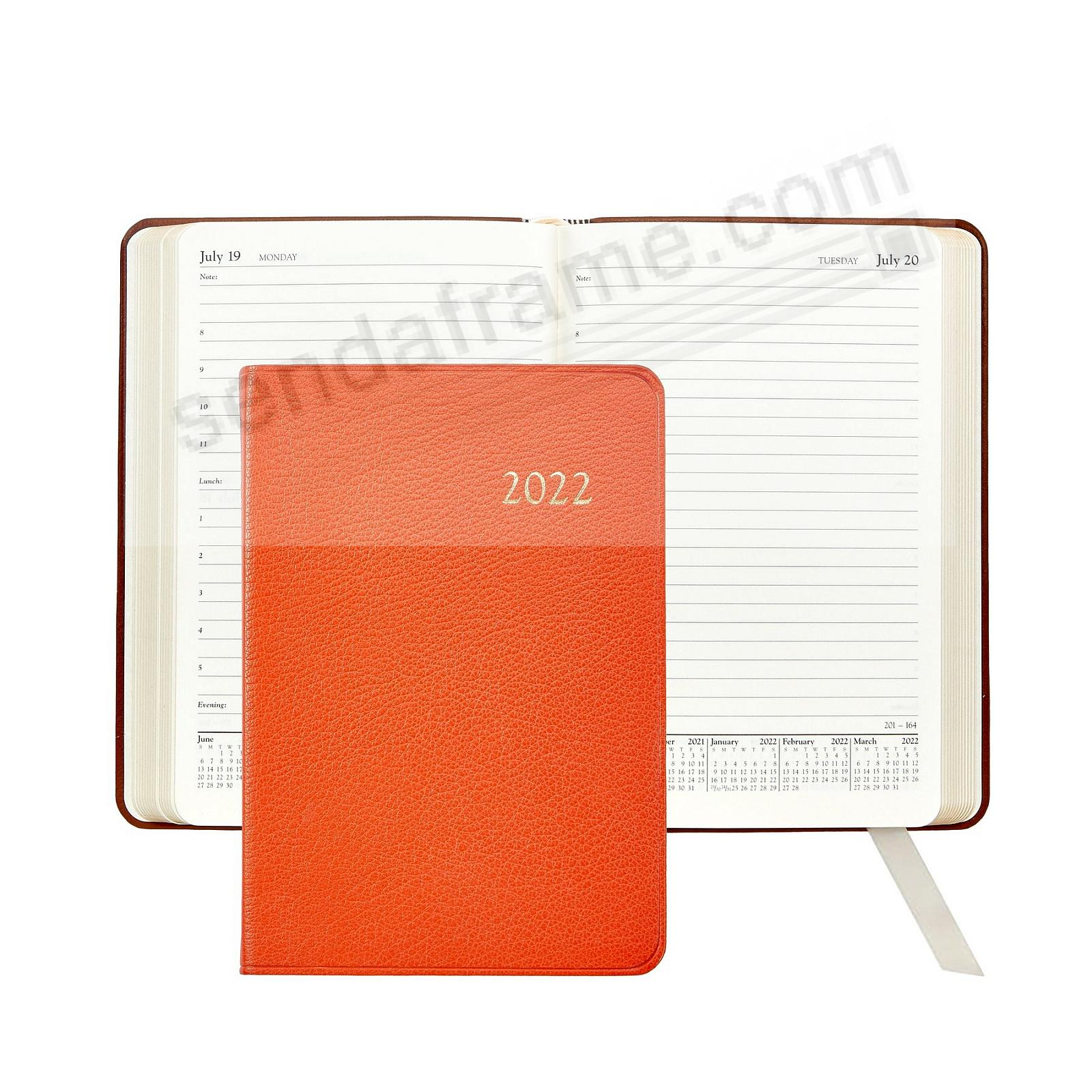 2021 BRIGHTS ORANGE fine leather Daily 8in Journal by Graphic Image™