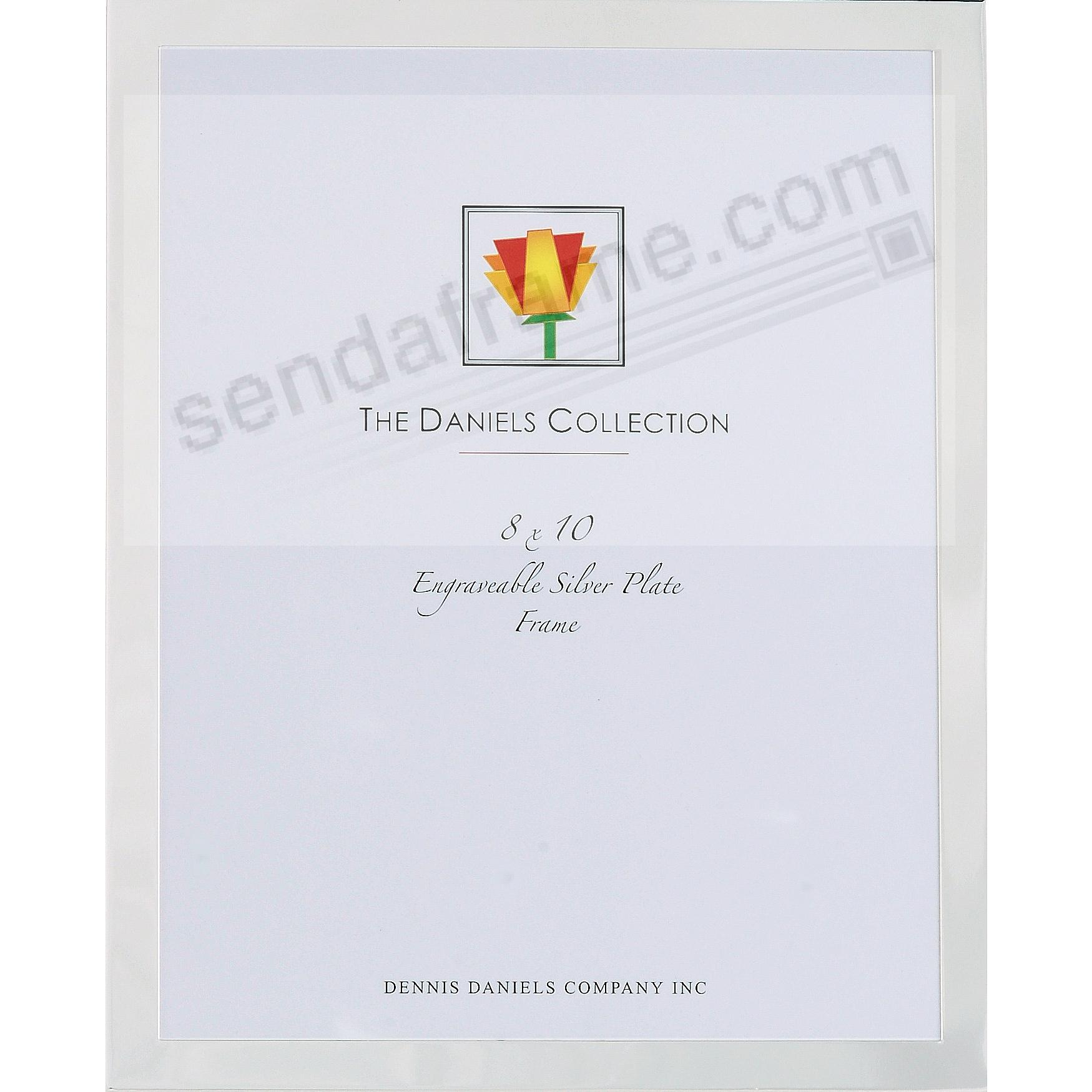 High-Polished Silverplate Engraveable ½-inch border 8x10 frame by Dennis Daniels®