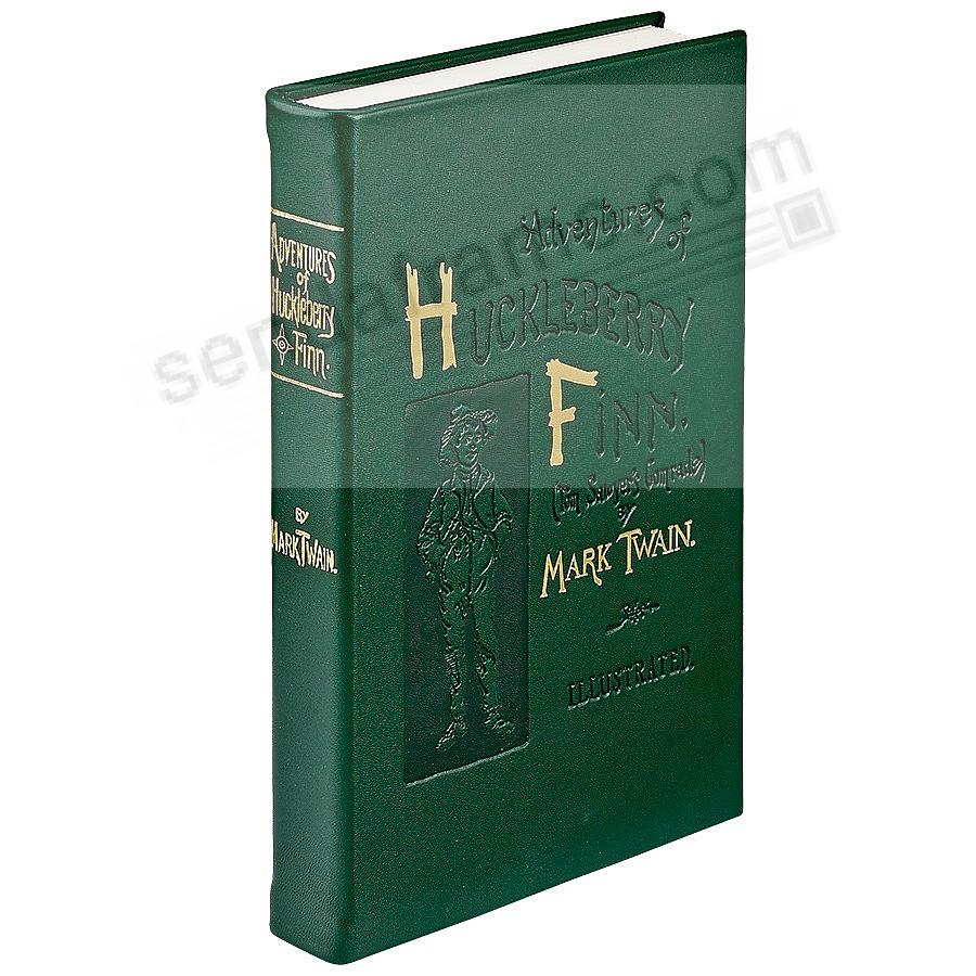 Adventures of Huckleberry Finn<br>by Mark Twain special edition in French Green Calfskin Leather
