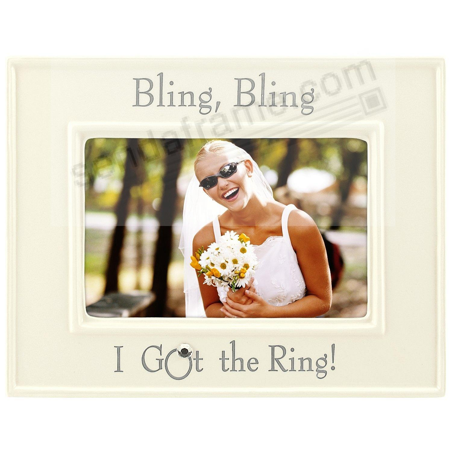 BLING BLING - I GOT THE RING in lovely ceramic and silver-leaf