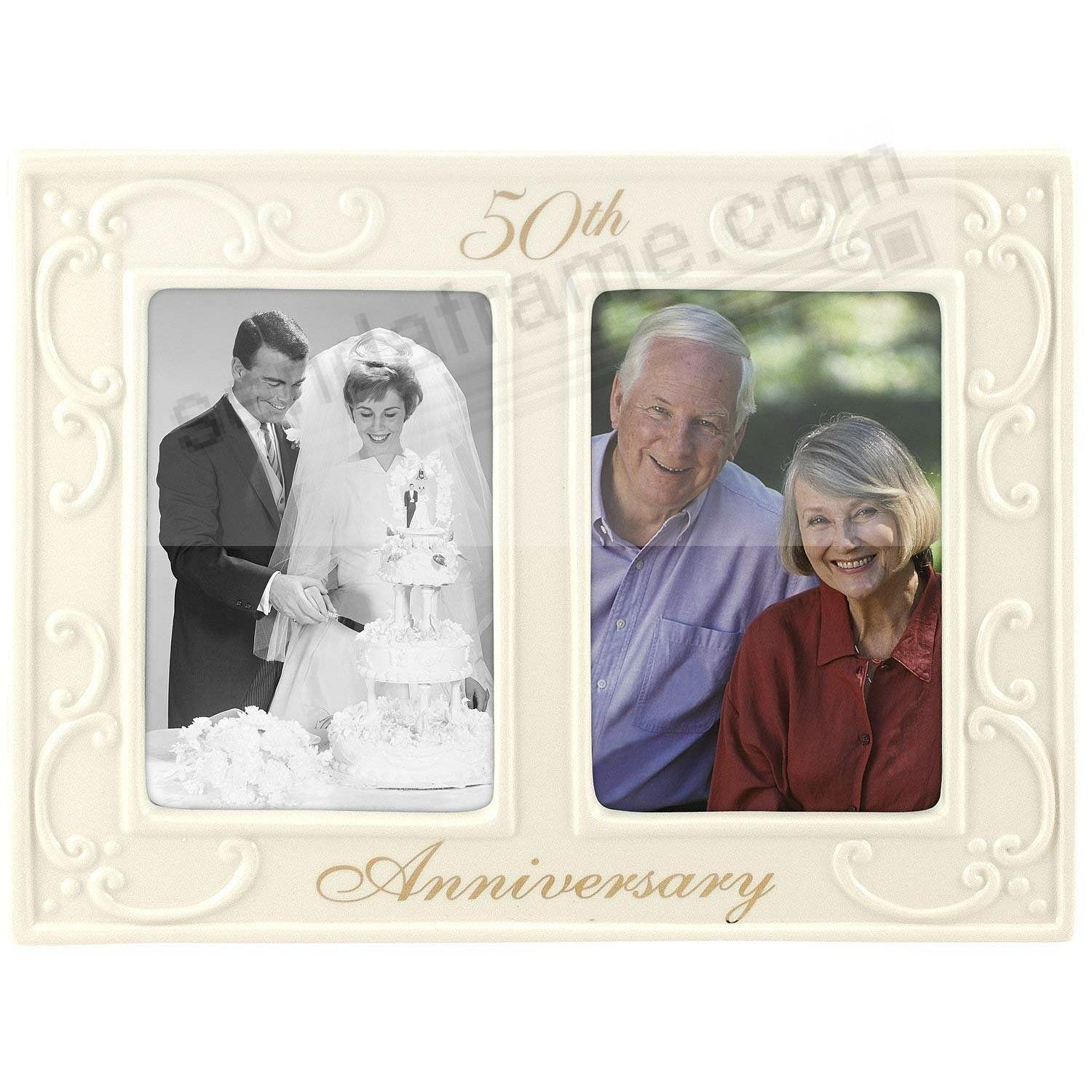 Special 50TH ANNIVERSARY -Then and Now- Double Ceramic keepsake