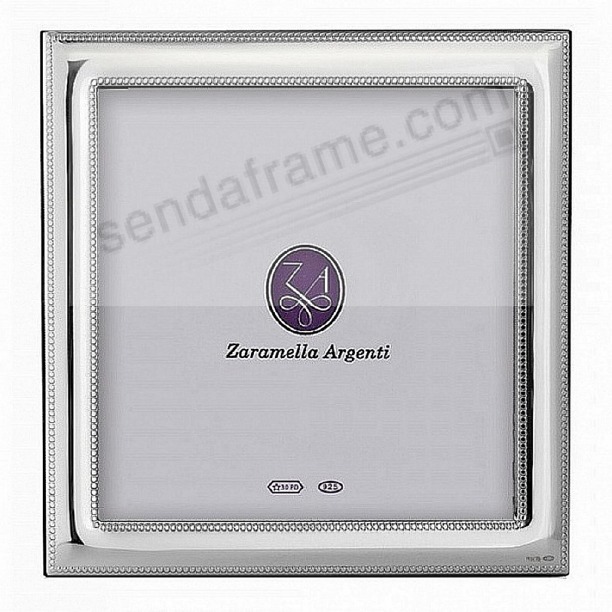 Luxurious MONACO Beaded Border Sterling Silver frame by Zaramella Argenti® Italia
