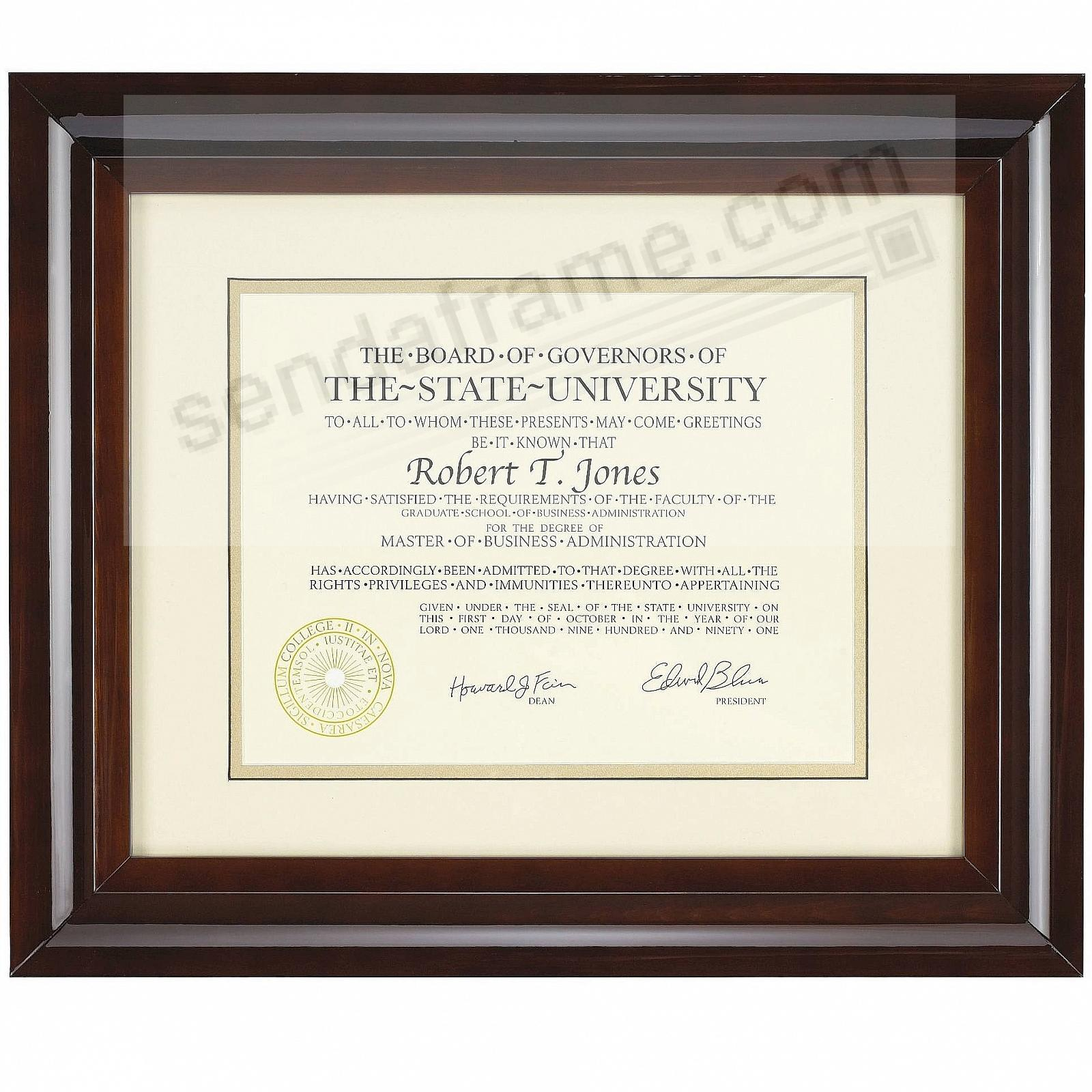 HAMPTON luxe walnut matted 15x12 / 11x8½ certificate frame by Nielsen®