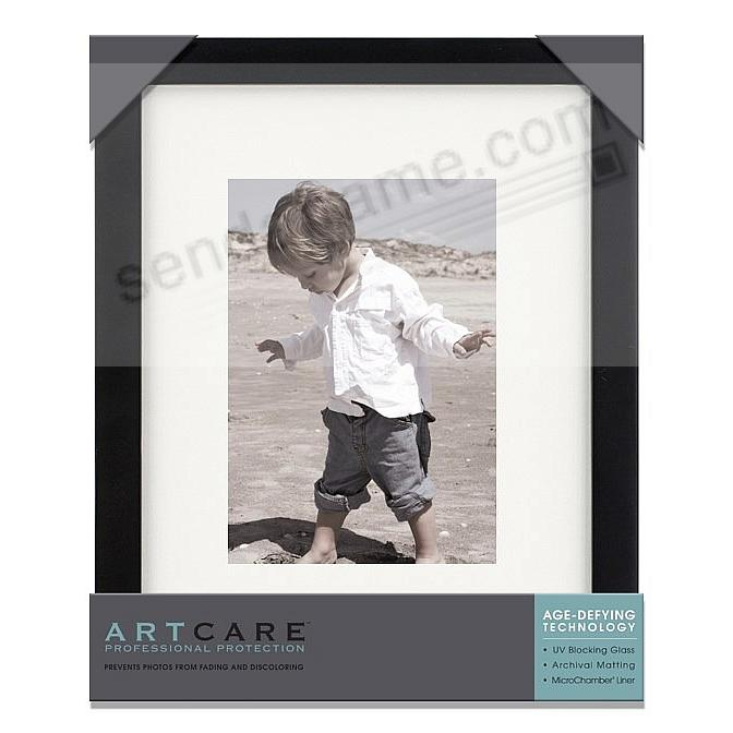 Matte-Black TRIBECA archival matted wood frame 8x10/5x7 by ARTCARE®