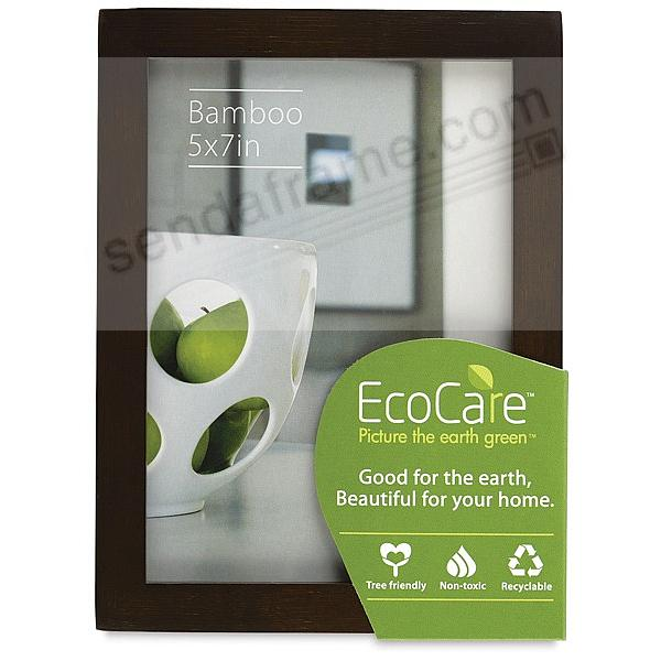CONTEMPORARY Bamboo Mocha-Brown stain 5x7 frame by EcoCare®