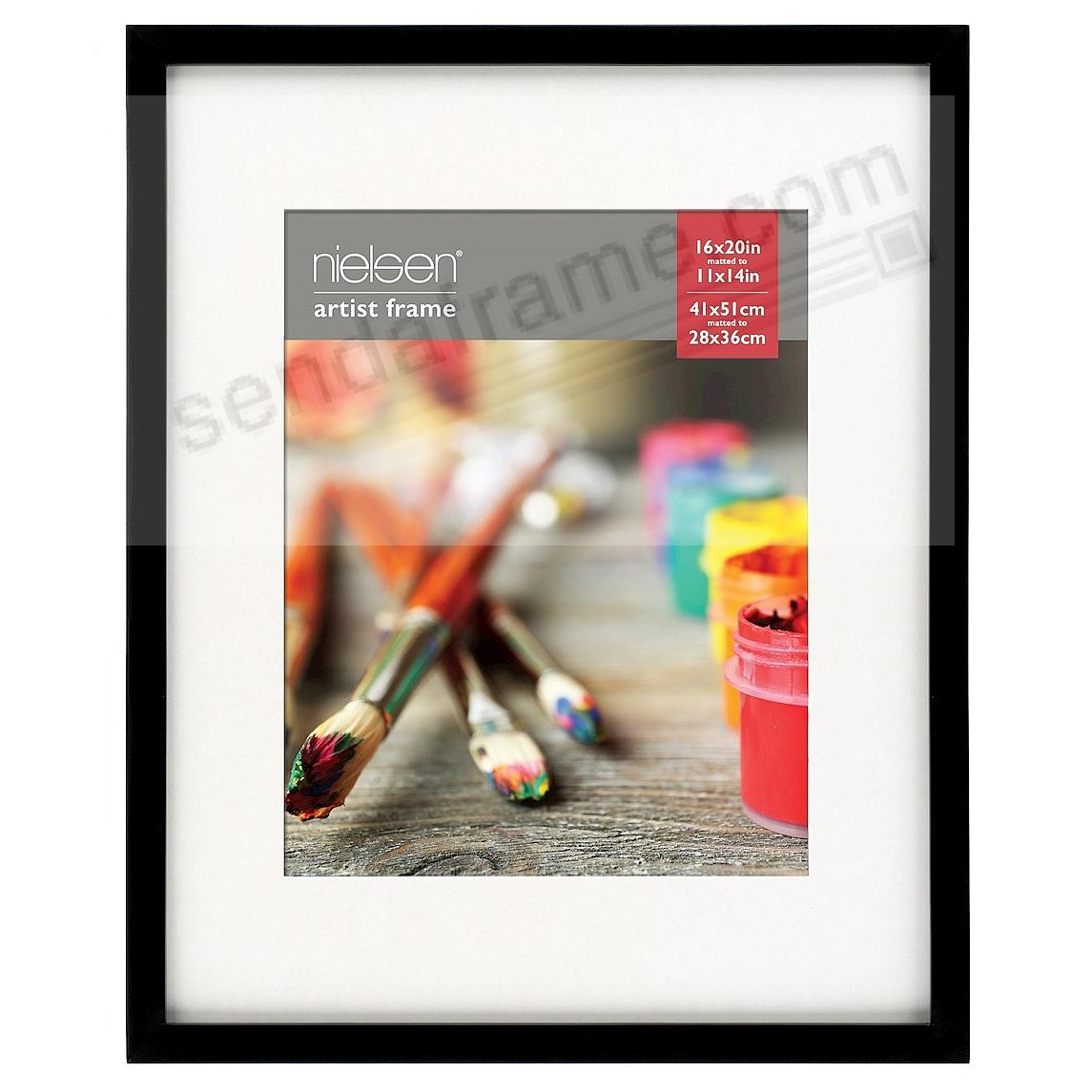 Matte-Black GALLERY-CANVAS DEPTH matted wood frame 16x20/11x14 by Nielsen-Bainbridge®
