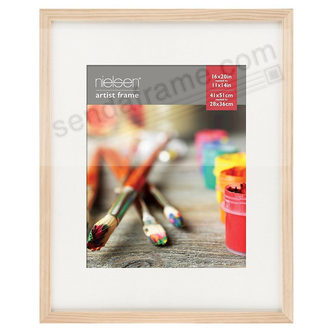 Ash Natural GALLERY-CANVAS DEPTH matted wood frame 16x20/11x14 by Nielsen-Bainbridge®