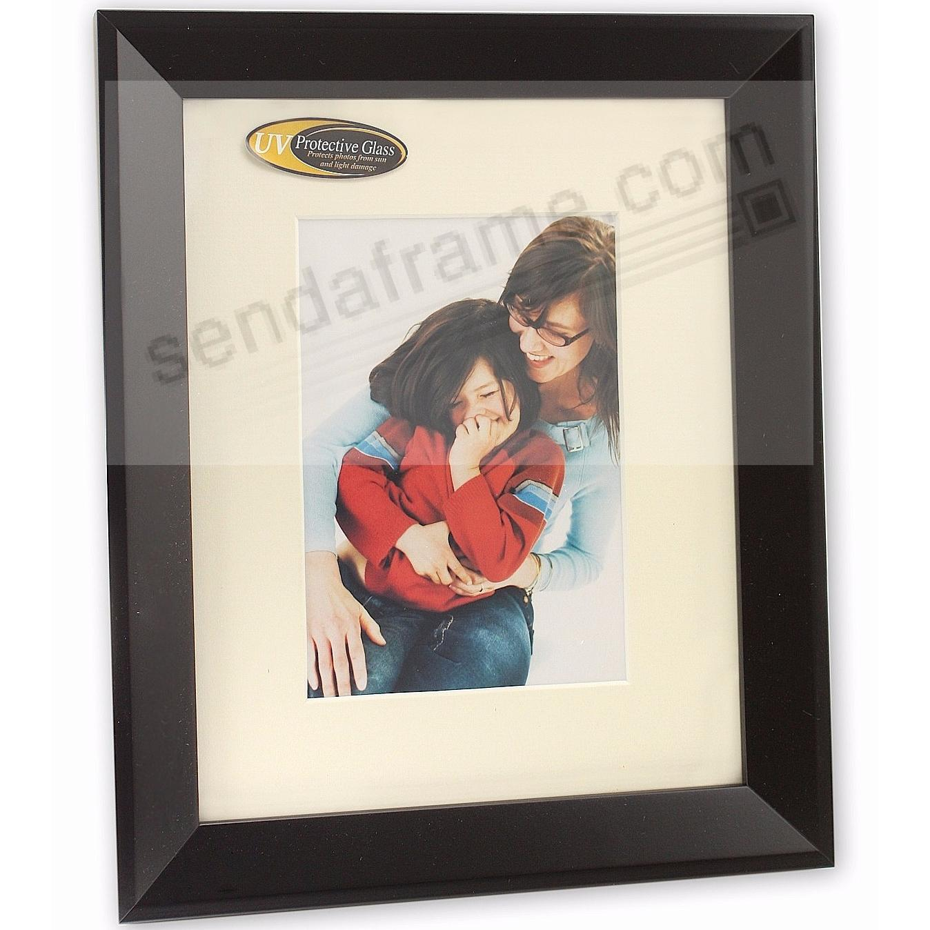 MONARCH matted Matte-Black wood frame 5x7/8x10 from ARTCARE® by Nielsen®